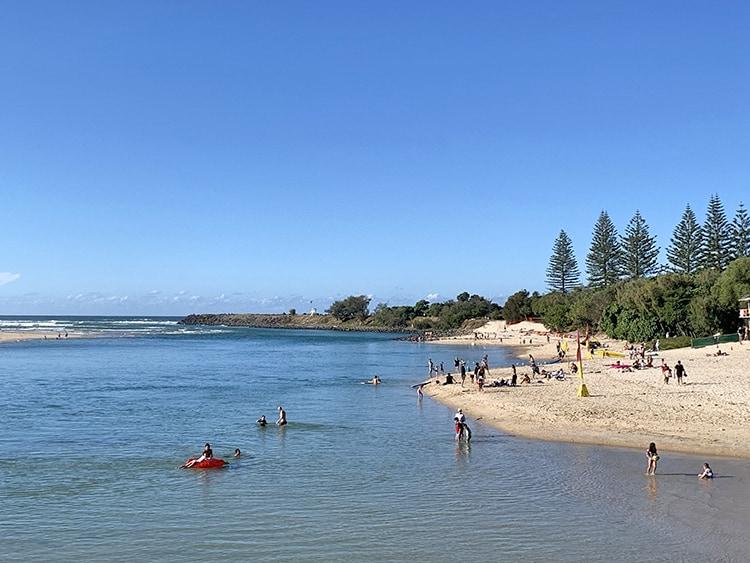 Tellebudgera Creek - Best Beaches on the Gold Coast, Queensland Australia