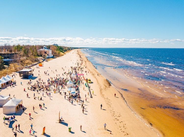Jurmala Beach in Latvia