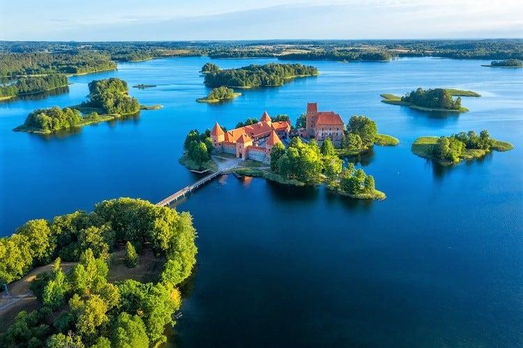 Old castle Trakai in Lithuania