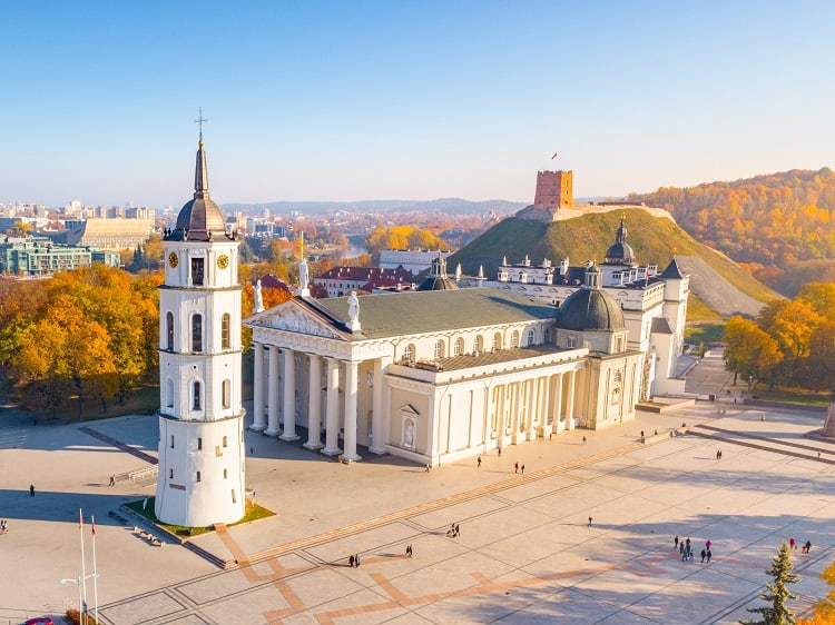 Vilnius Cathedral in Lithuania - top family attraction in the Baltics