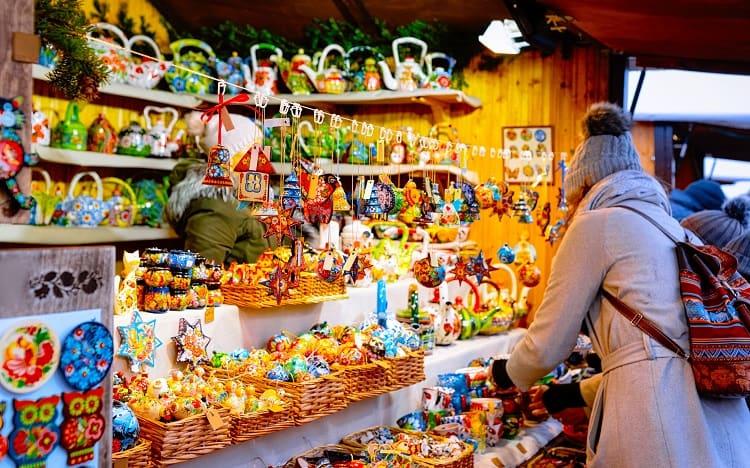 Christmas Market at Gendarmenmarkt in Winter Berlin, Germany